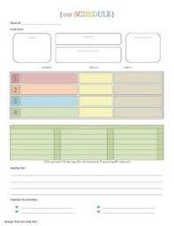Blank Preschool Weekly Lesson Plan Template | ... My Printable ...
