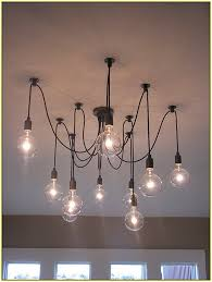 enchanting hanging bulb chandelier light with regard to bulbs for chandeliers designs 5