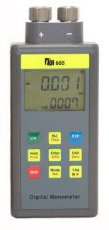 differential manometer. 665 dual input differential manometer v