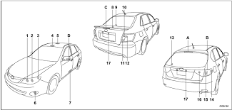 Bulb Chart Specifications Subaru Impreza Owners Manual