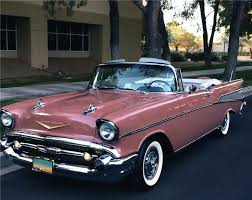 chevrolet bel air convertible flowers car
