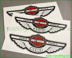 davidson 100th years anniversary decals stickers emblems 4pcs