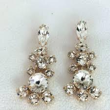 vintage chandelier earrings bridal chandelier earrings vintage style chandelier earrings