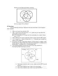 How To Solve Venn Diagram Word Problems Venn Diagram Word Problems Worksheet Math Diagrams Word