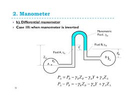 differential manometer. 32. 2. differential manometer