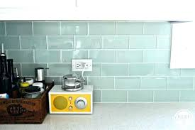 simple sea glass tile backsplash designs