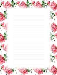 Paper With Flower Border Lined Paper With Flower Border Writings And Essays Corner