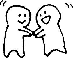 握手 かわいいゆるい無料イラストてがきですのβ