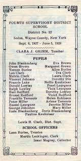 Pupils of Sodus School No. 4 Wayne County NY 1927-1928