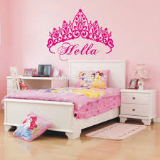 Princess Bedroom Decorating Fancuful Chic Princess Bedroom Decor With Castle Wall Design Ideas