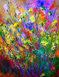 artist pol ledent oil 2016 painting wilflowers
