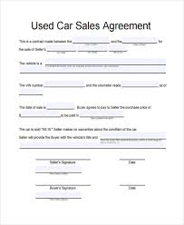Automobile Sales Agreement Used Car Sale Form Magdalene Project Org