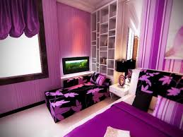 Purple And Brown Bedroom Dark Brown Wooden Bedside Table Purple Bedroom Decor Ideas