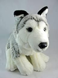 plush husky dog grey white black 15 2016 sold by toys r us euc toysrus
