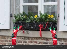 Weihnachts Dekoration Auf Dem Fensterbrett Stockfoto