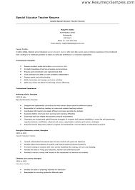 Resume For Teaching Position Best Letter Sample.