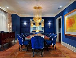 view in gallery fabulous dining room in captivating royal blue design yn miller interiors