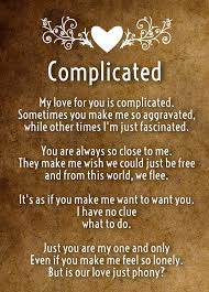 Complicated Love Quotes Stunning Complicated Love Poems Quotes Square