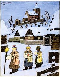 Ladovská zima opět dorazila doHrusic :)... - Památník Josefa Lady ajeho  dcery Aleny, Hrusice   Facebook