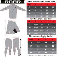 Roar Ufc Shorts Mma Rashguard Bjj Cage Fight Legging