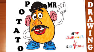 mr potato head drawing.  Head How To Draw MR POTATO HEAD Toy Story Easy For Kids And Color  MrUsegoodART On Mr Potato Head Drawing