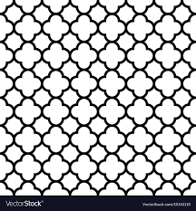 Quatrefoil Pattern Classy Quatrefoil Seamless Pattern Background In Black Vector Image