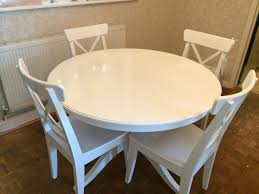 nice white round dining table ikea 16 small glass and chairs circular kitchen