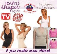 Cami Tank Top Women Body Shaper Removable Pad Instant Slim Plus Size