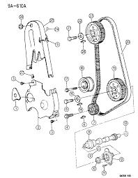 1995 dodge dakota timing belt cover and balance shafts diagram 00000eua
