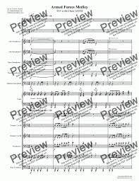 Big Band Charts Free Pdf Armed Forces Medley 533 With Choir Satb For Big Band By Traditional Sheet Music Pdf File To Download