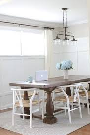 love this bright and white dining room the diy board and batten with the large