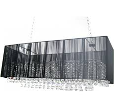 modern home and office furniture five light crystal chandelier with black rectangular shade