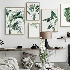 office wall art. Watercolor Green Plants Leaves Canvas Paintings Nordic Scandinavian Office  Wall Art Poster Picture For Living Room Office Wall Art C