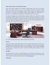 good office desks. Office Desks: Features Of Good Furniture What Sort Should Be In Your Desks