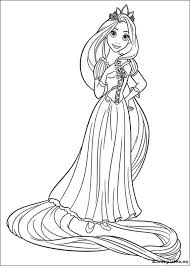 Rapunzel Kleurplaten Kleurplateneu