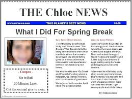 Newspaper Article Template Students Student Newspaper Template