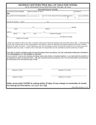what is a bill of sale free georgia vessel bill of sale form pdf eforms free fillable