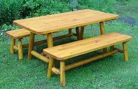 log cabin outdoor furniture patio. full image for log cabin patio furniture 6 cedar picnic table w 2 side benches outdoor l