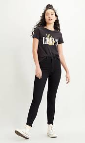 <b>Mile High Super</b> Skinny Jeans - Svart   <b>Levi's</b>® SE