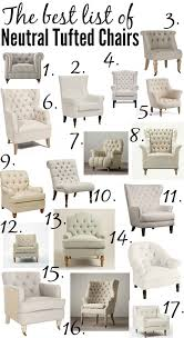 the ultimate list of the best neutral tufted chairs from high to low every size and shape in between