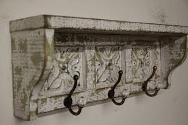 Shabby Chic Wall Coat Rack French country wall shelf primitive wall shelf primitive coat rack 6