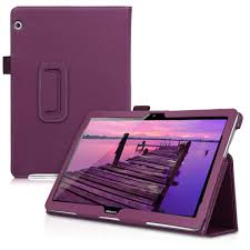 Violet <b>PU Leather Tablet Cover</b> with Stand Function kwmobile 360 ...
