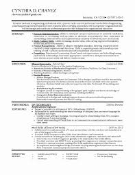 Mechanical Engineer Resume Format Doc Awesome Resume Sample For
