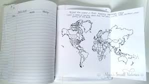 book tracker and travel the world in books reading challenge map in our summer bullet journal