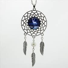2017 trendy style expecto patronum necklace harry s patronus jewelry silver dream catcher necklace dc 00428