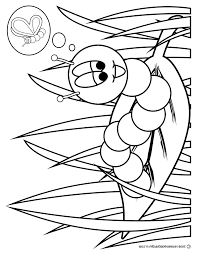 Caterpillar Coloring Page Kids Butterfly Coloring Page Coloring