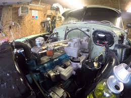 All Chevy chevy 235 engine : 1954 chevy 235 dual carb split manifold exhaust First Start Up ...