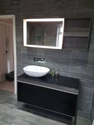grey slate bathroom tiles. we stock a large selection of grey slate effect tiles in our new kingston park showroom bathroom