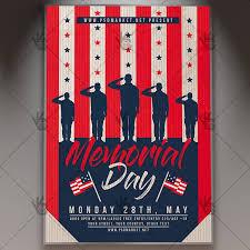 Memorial Day Specials Flyer Psd Template