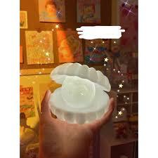 Đèn vỏ sò để bàn Hàn Quốc Đèn ngọc troai trang trí phòng ngủ decor bàn học  cho trẻ em mjzzuxx chính hãng 80,000đ